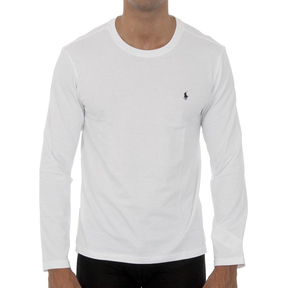 382267a0f4 Bílé tričko Polo Ralph Lauren s dlouhým rukávem