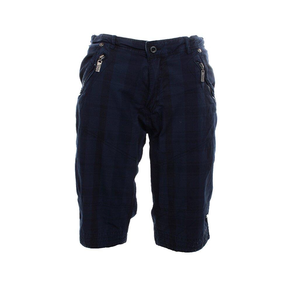 Pánské tmavě modré kraťasy Exe Jeans s kapsami na zip  077b2f4150
