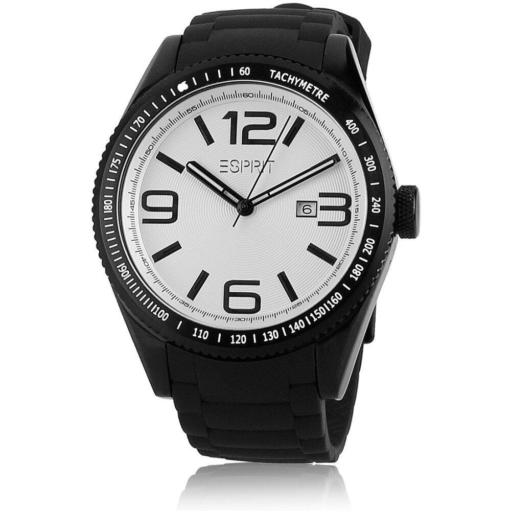 0560ebf80b Pánské černé hodinky s tachymetrem a bílým ciferníkem Esprit ...