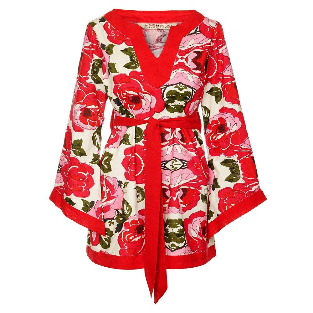 6577fe1c11f4 Dámské krátké červené šaty s páskem od Savage Culture