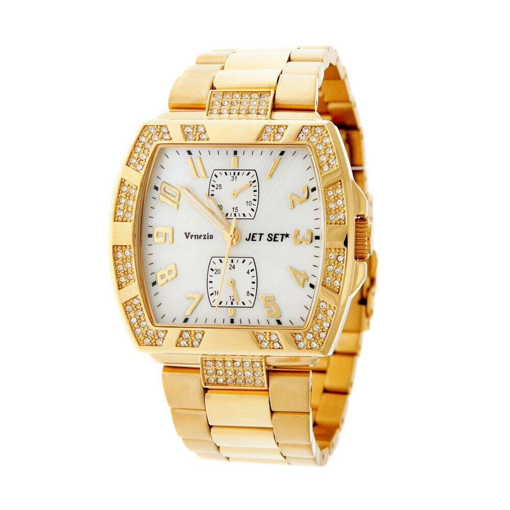 Dámské zlaté náramkové hodinky Jet Set s kamínky  b29102cf6b