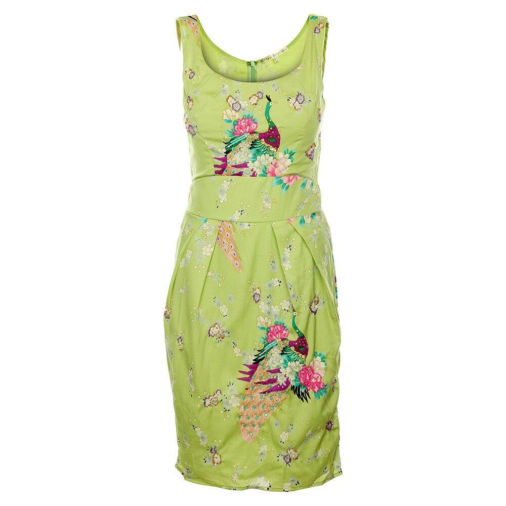 7756455cef68 Dámské světle zelené šaty Uttam Boutique s potiskem