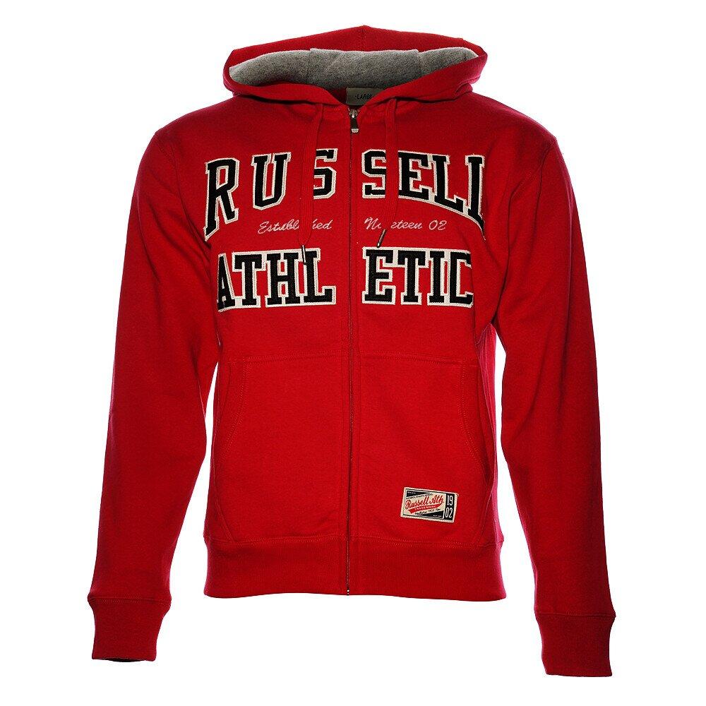 5984bd97a90 Pánská červená mikina Russell Athletic s kapucí