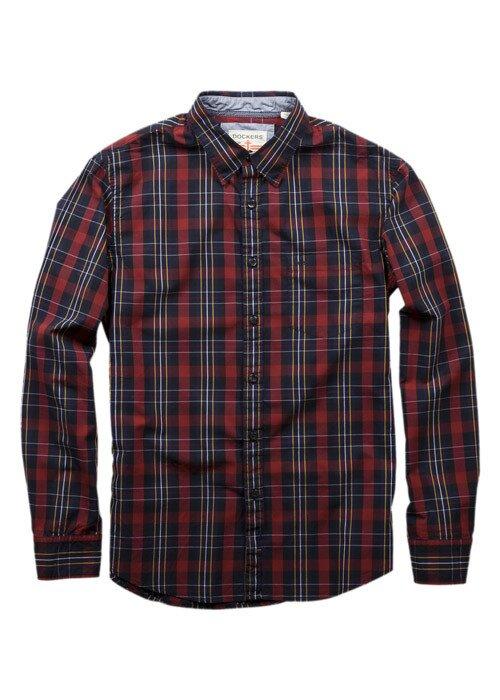 Pánská červeno-černá kostkovaná košile Dockers  851bda252d