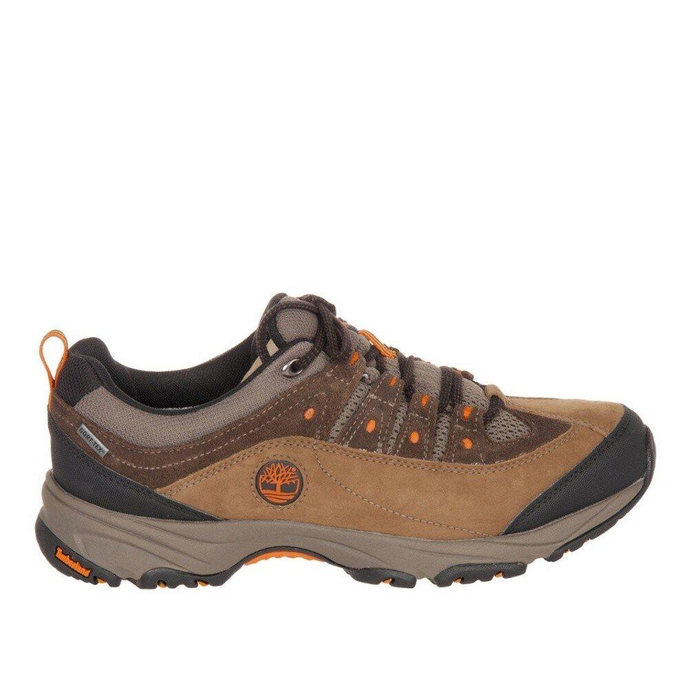 286badf1b76 Pánské hnědé trekové boty s oranžovými detaily Timberland