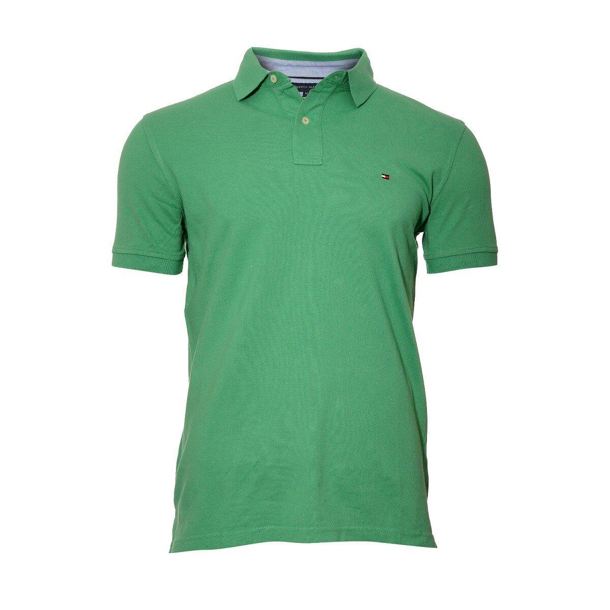 d1153b97037a Pánské klasické zelené polo tričko Tommy Hilfiger