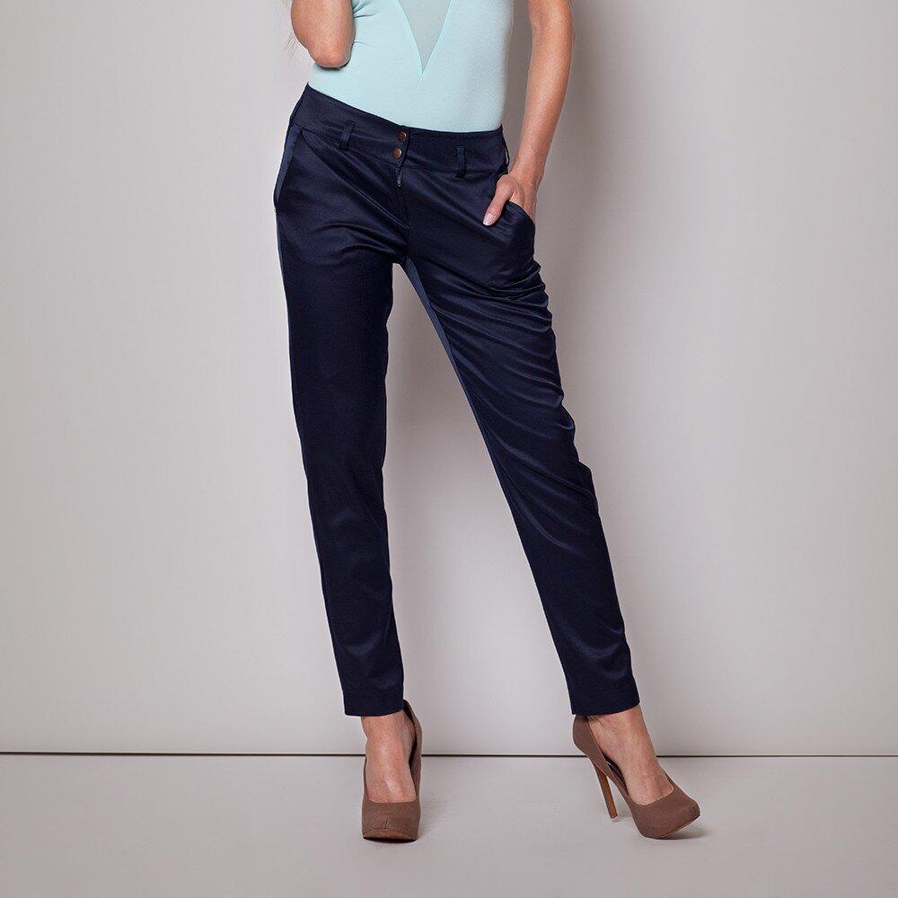 Dámské tmavě modré kalhoty Figl 9aad5a2b1c
