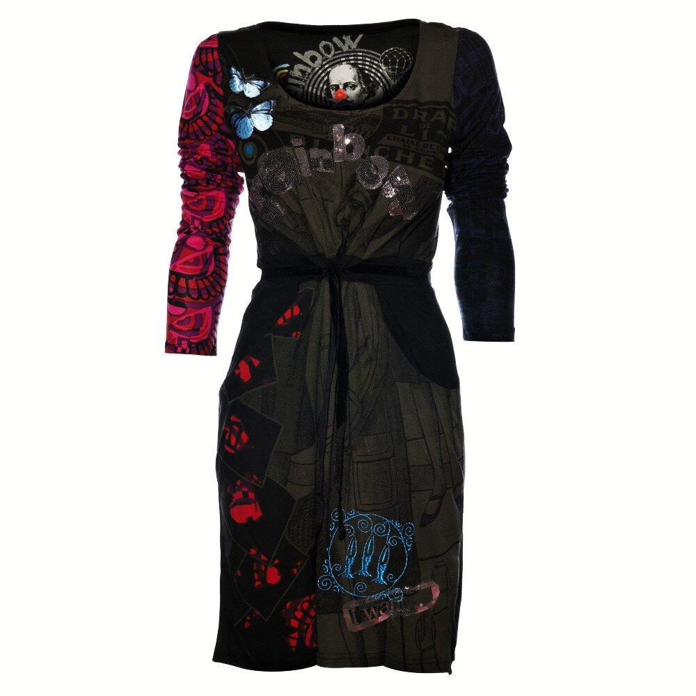 05a18e52f7 Dámské černé šaty Desigual s potiskem a flitry