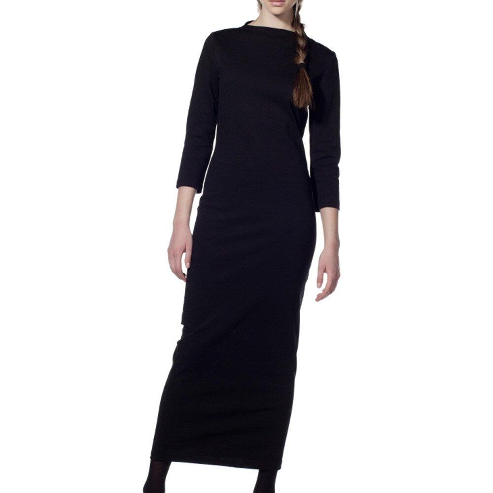ad96ac27349 Dámské černé šaty s dlouhým rukávem Gene