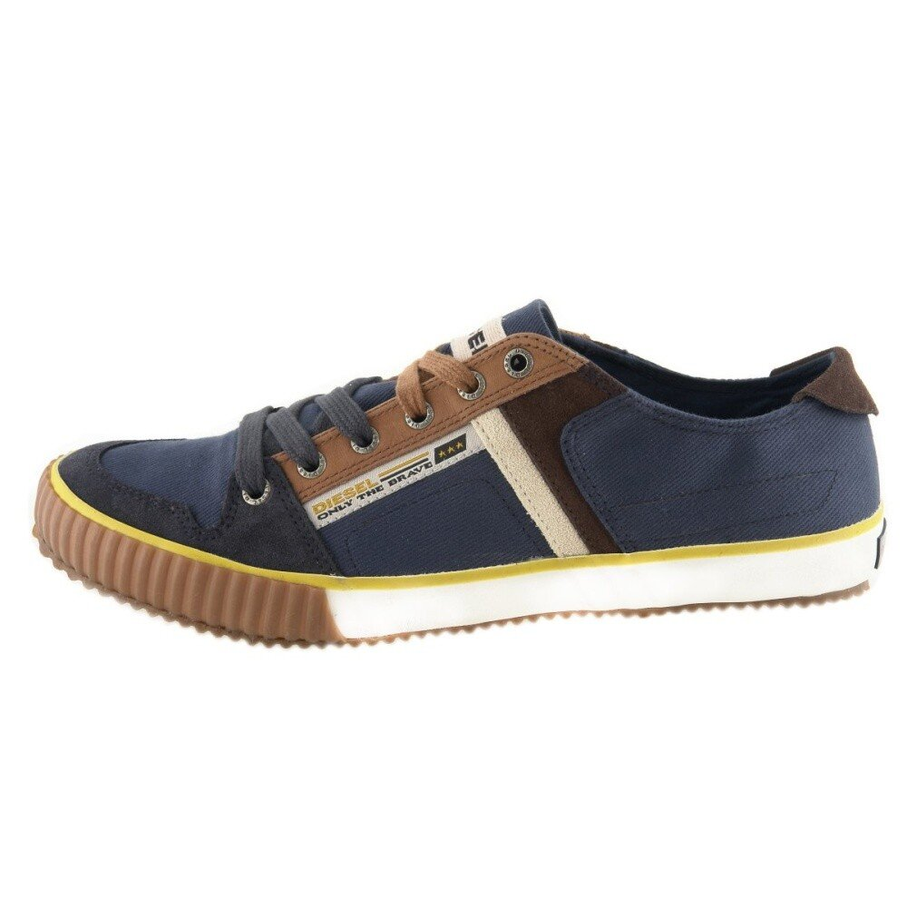 Pánské modré textilní boty Diesel 7f45f32d6d