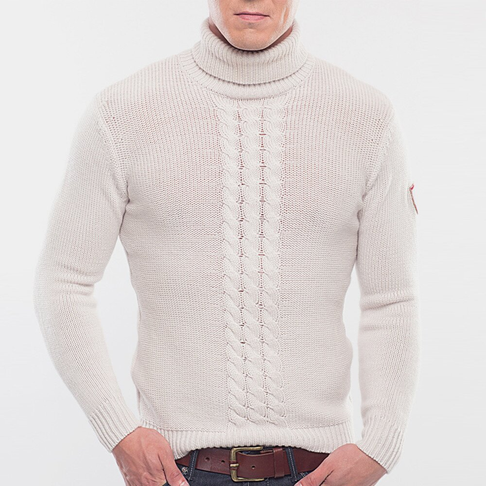 Pánský krémově bílý vlněný rolák Blažek  71bb795552