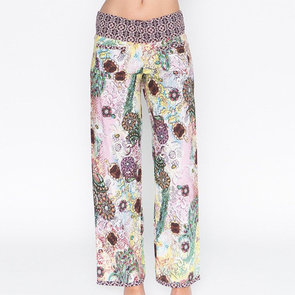 b7a93ae251e Dámské barevně potištěné kalhoty Mahal