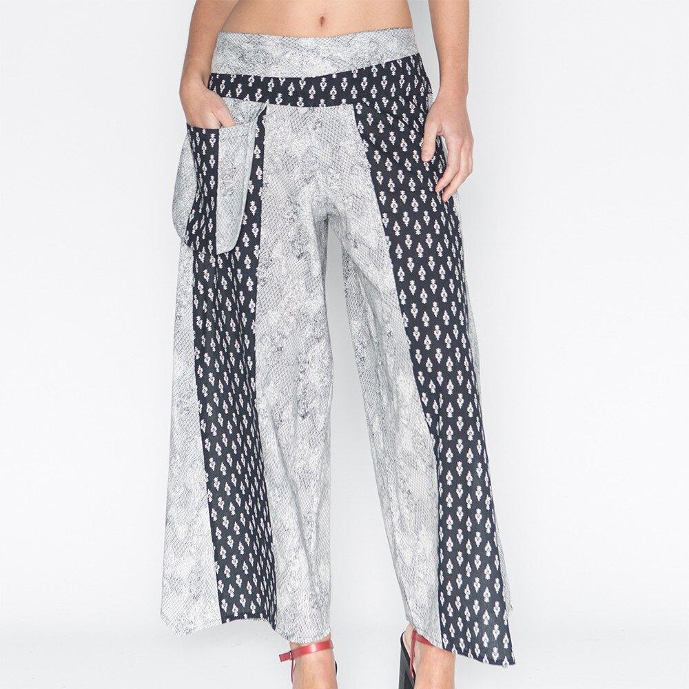 Dámské široké kalhoty s potiskem Mahal  0094806b45