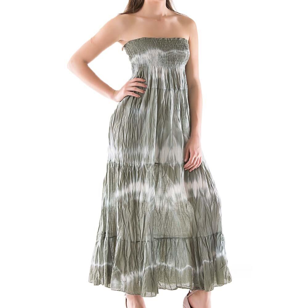 73a66b9ca4b Dámské dlouhé zelené batikované šaty Keysha