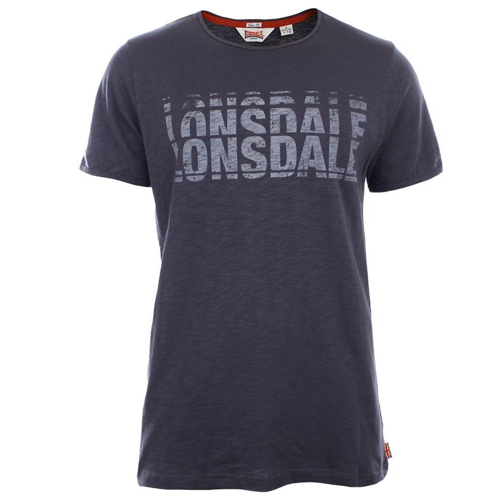 081798c495f4 Pánské antracitové slim fit tričko s krátkým rukávem Lonsdale ...