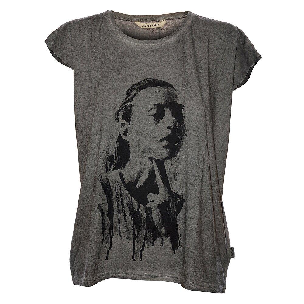 Dámské světle šedé tričko Eleven Paris s potiskem  a8c3ebc55b