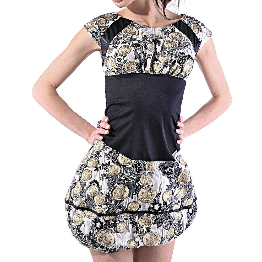 110434ca95cd Dámské vzorované balonové šaty Female Fashion