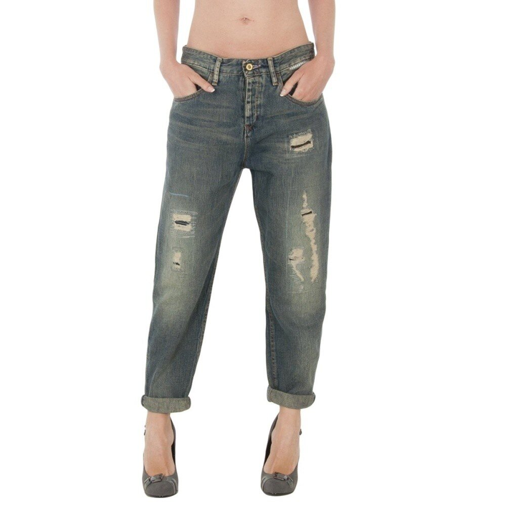 58b977d6669 Dámské tmavé vintage džíny Tommy Hilfiger se záplatami