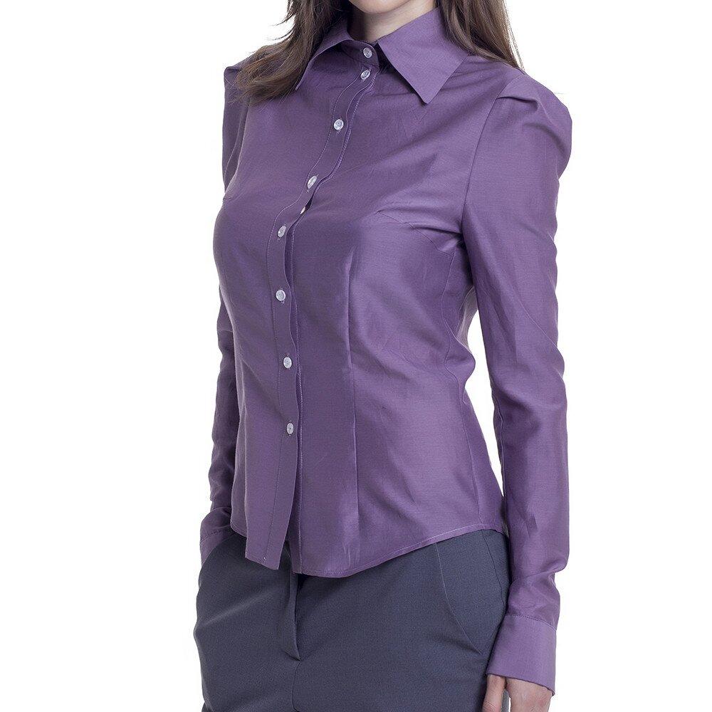dc35a3aadfe Dámská fialová košile s dlouhým rukávem Lora Gene
