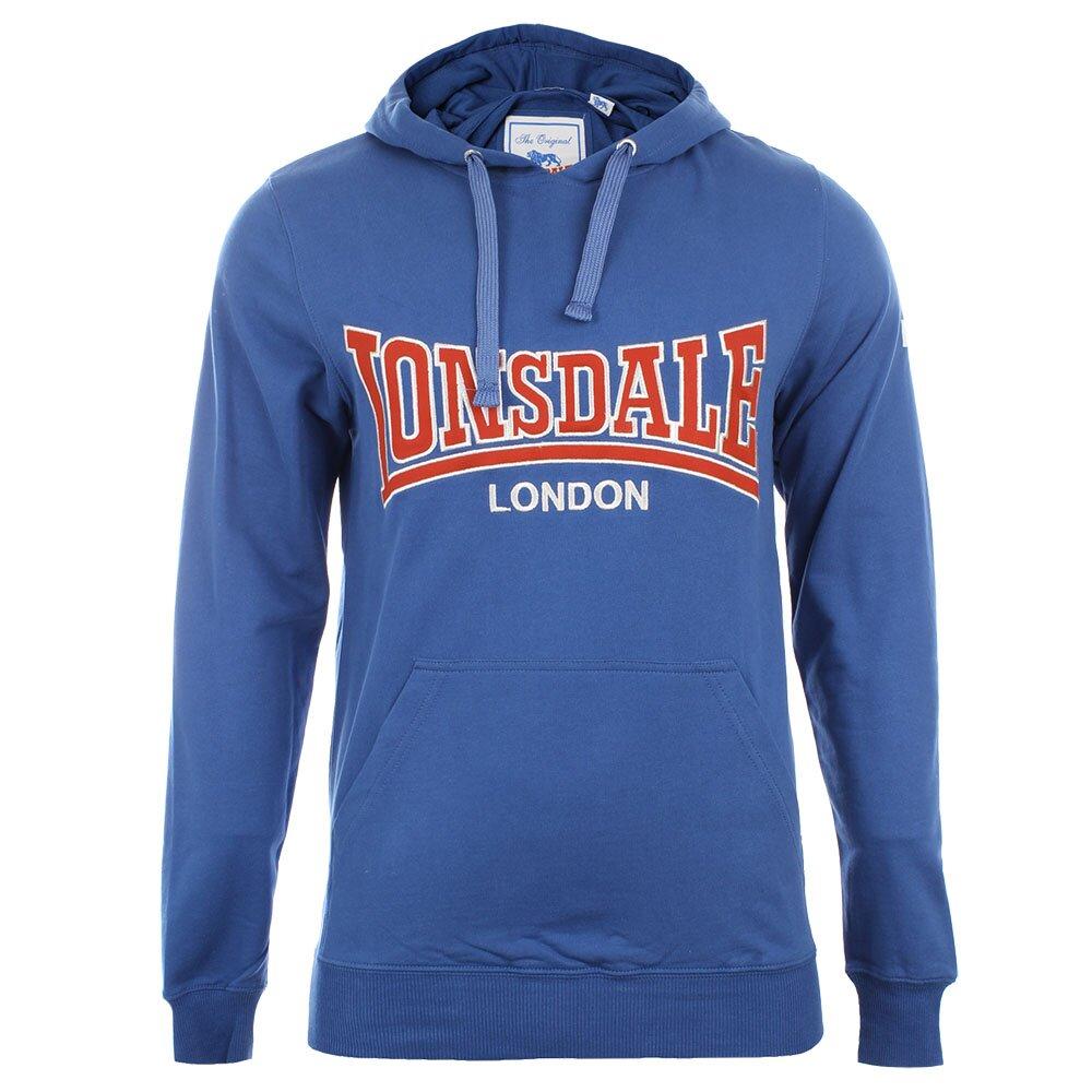 Pánská modrá slim fit mikina s kapucí Lonsdale  73e32c05753