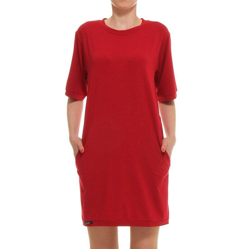 f8bbe59eae3 Dámské červené rovné šaty s kapsami Yuliya Babich