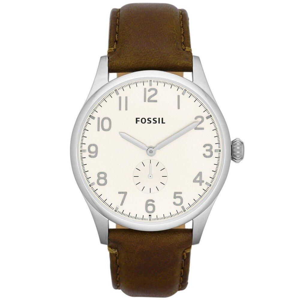 Pánské hodinky s hnědým koženým páskem Fossil  070ce86a76