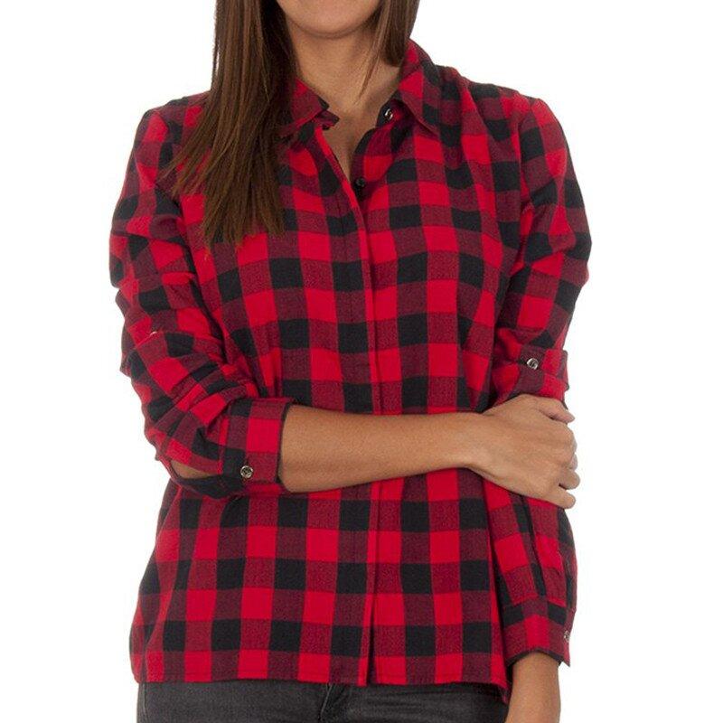 Dámská červeno-černě kostkovaná košile Vero Moda  e9e4656e81