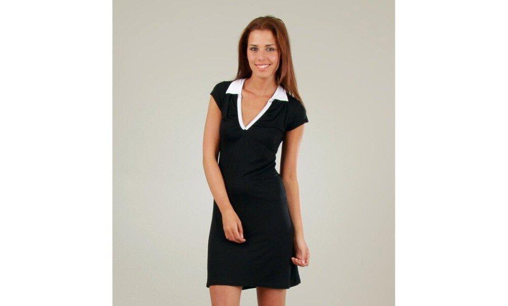 Dámské černé šaty s bílým límečkem Ginger Ale  d8957c0d3a