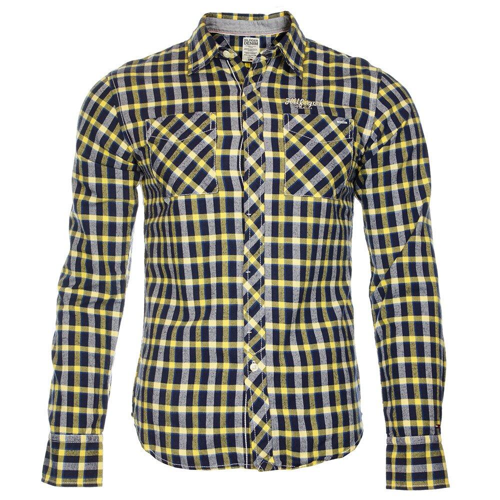 9ef2df5e2af1 Pánská modro-žlutá kostkovaná košile Tommy Hilfiger