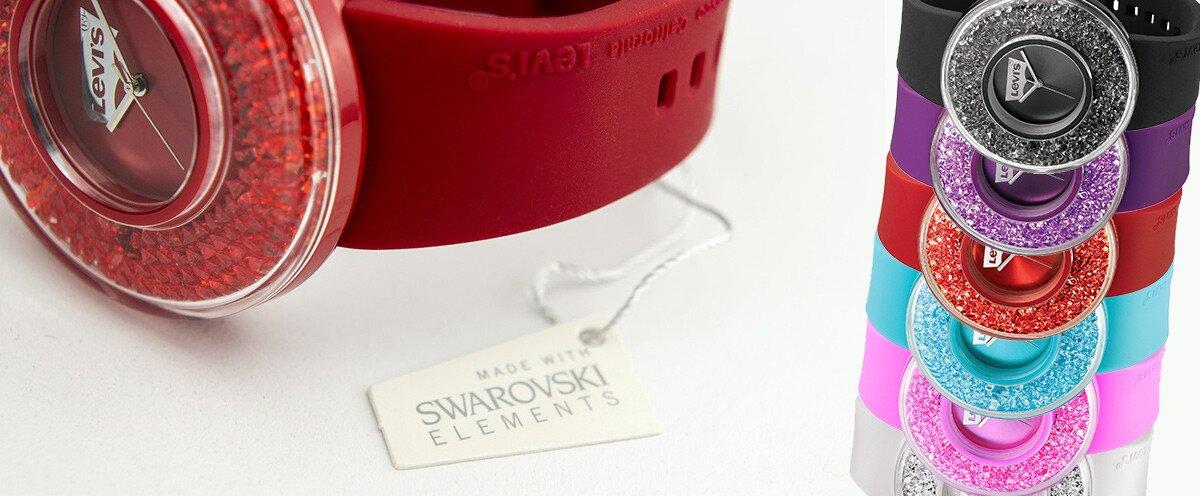 2dbc529dcb8 Trendy dámské hodinky Levis s krystaly Swarovski