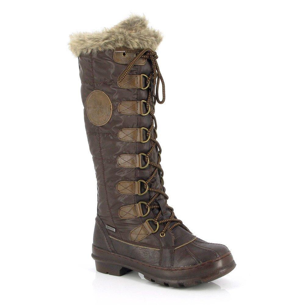 Dámské hnědé zimní boty Kimberfeel 38dade3ba8