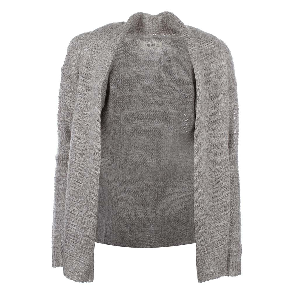 Dámský šedý svetr bez zapínání Timeout  8a68853ae2