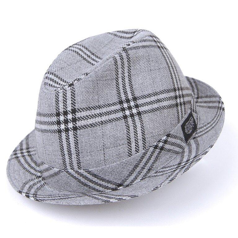 Pánský šedý károvaný klobouk Chico  98f7f747d1