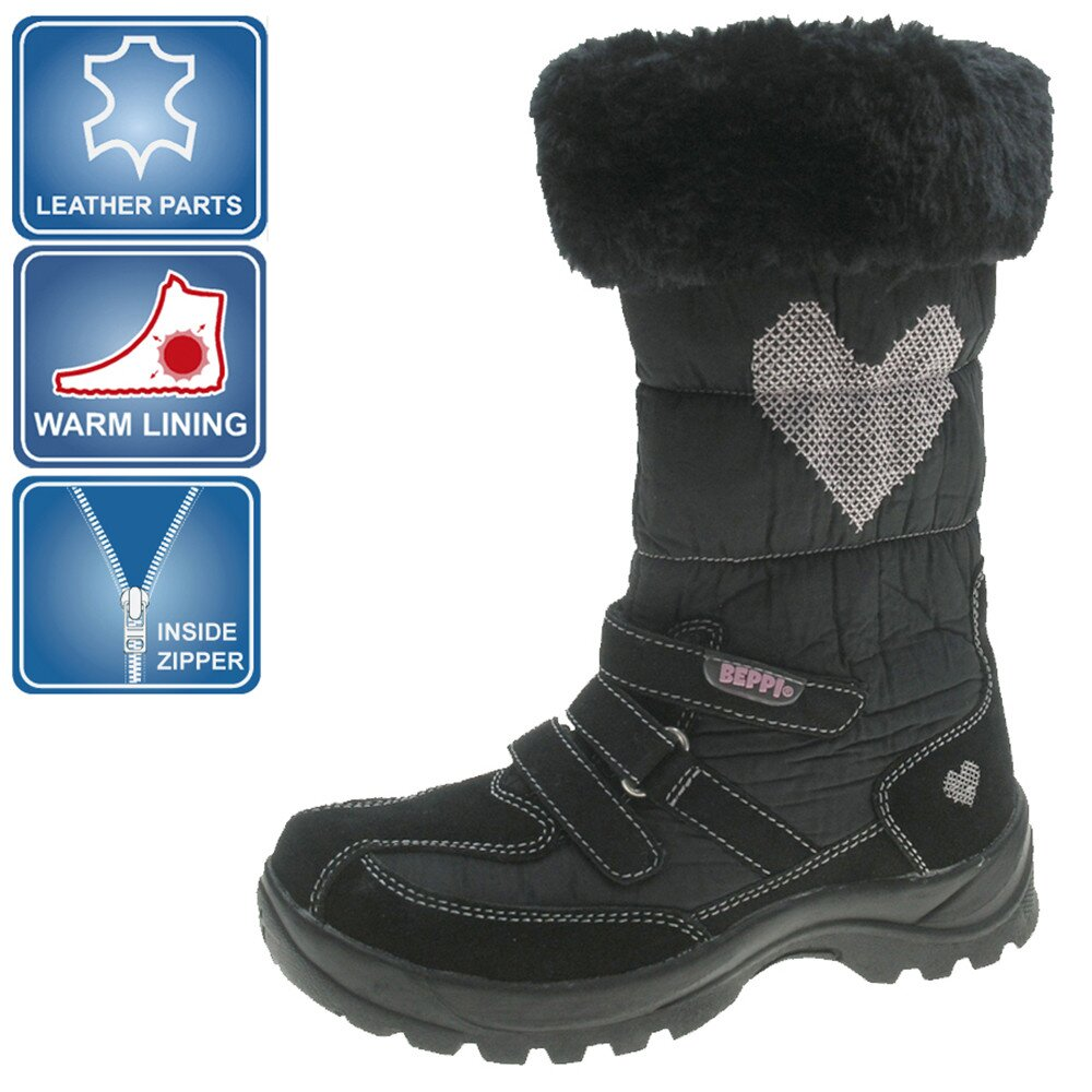 Dívčí černé zimní boty Beppi  c7e8d04453