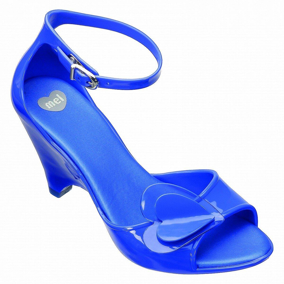 Modré boty na podpatku Mel  11a69ea050