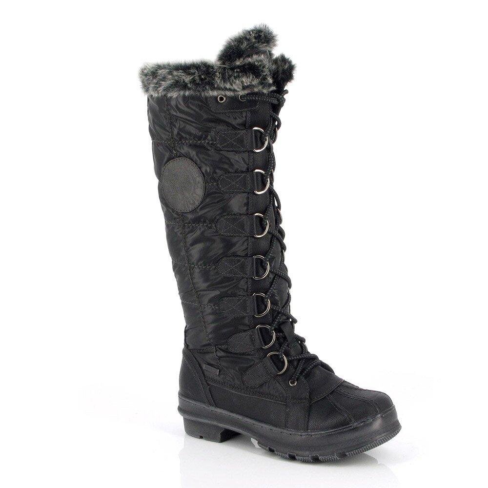 Dámské černé zimní boty Kimberfeel 7b87cbb089