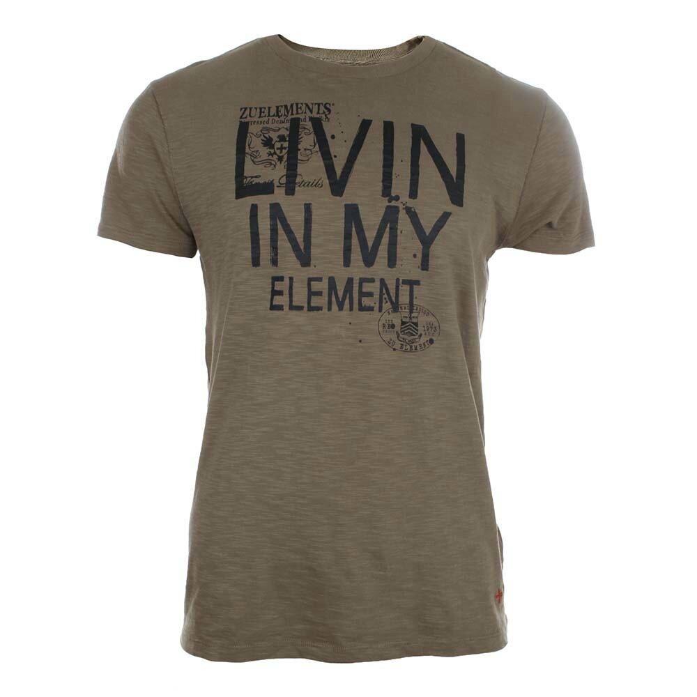 541eabc2d4d Pánské hnědé tričko s potiskem Zu Elements
