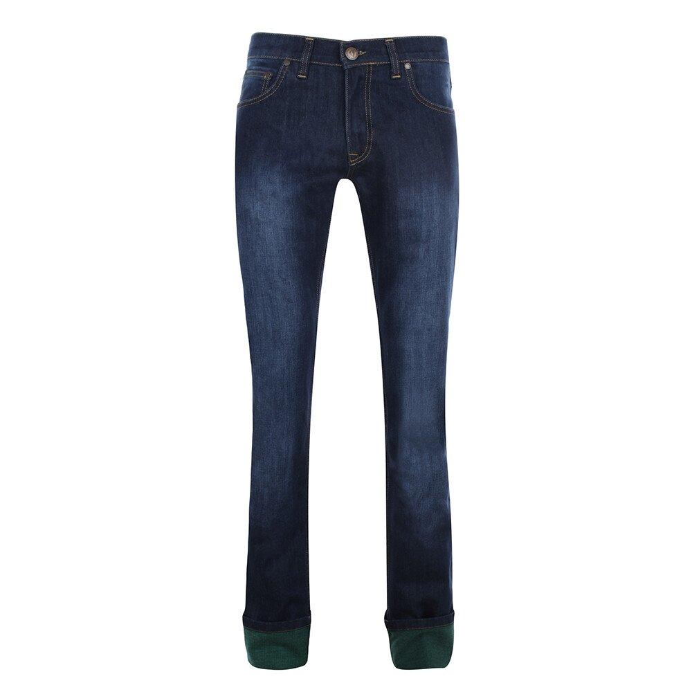 02770dd735be Pánské tmavě modré džíny s šisováním Giorgio di Mare
