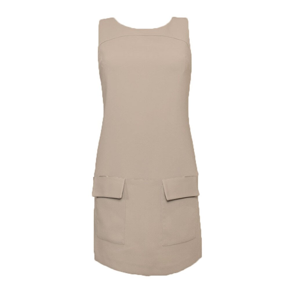 793dd2826a0 Dámské béžové šaty s kapsami Virginia Hill