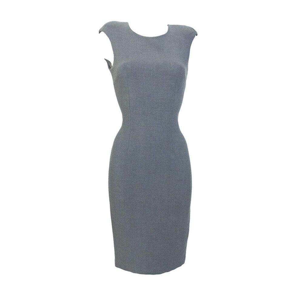 34a6f9a52e0 Dámské šedé pouzdrové šaty Virginia Hill