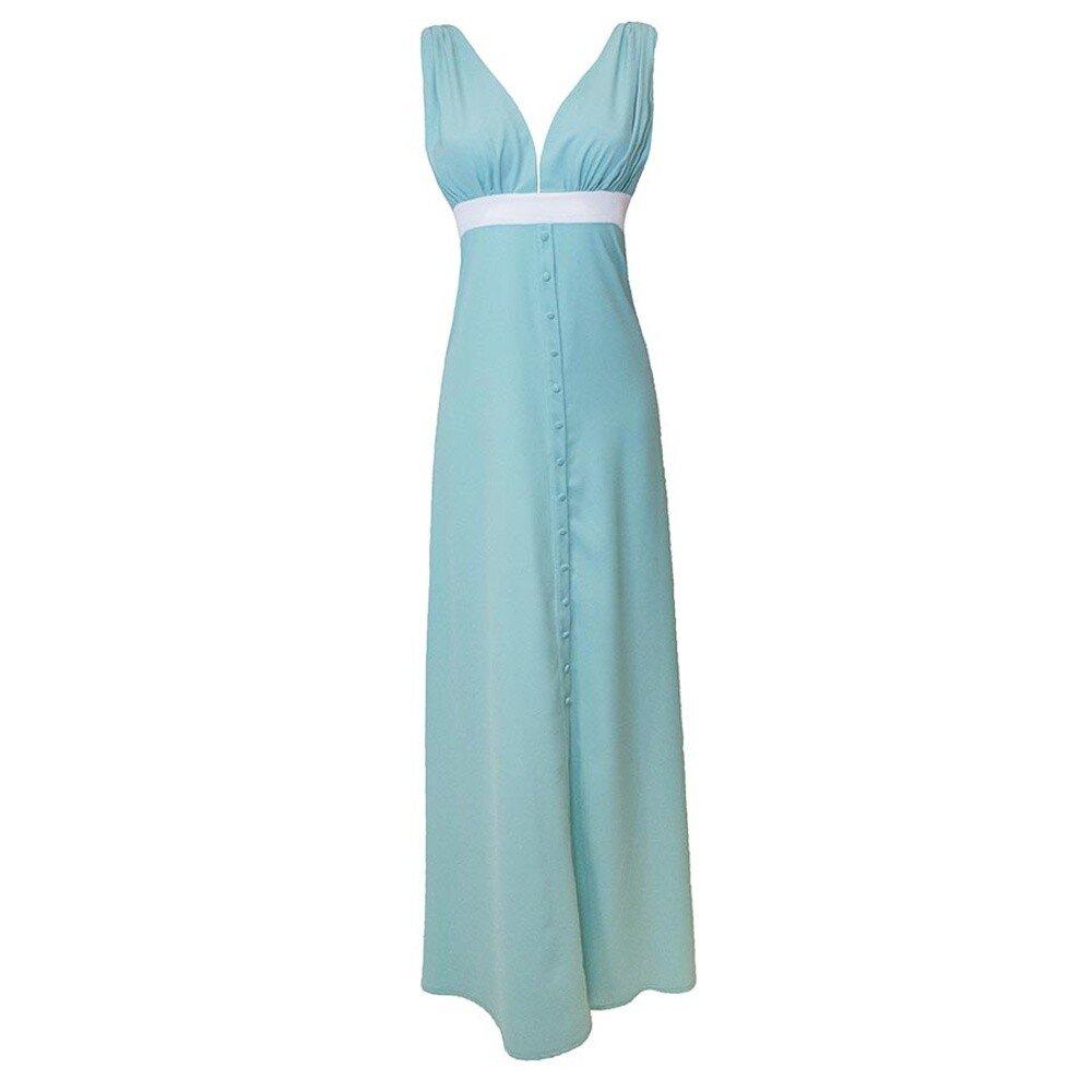 3f17e8eef6a Dámské vodově modré společenské šaty Virginia Hill