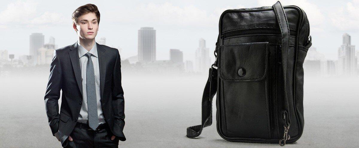 Pánská kožená taška přes rameno Stefano  c03a5d7c64