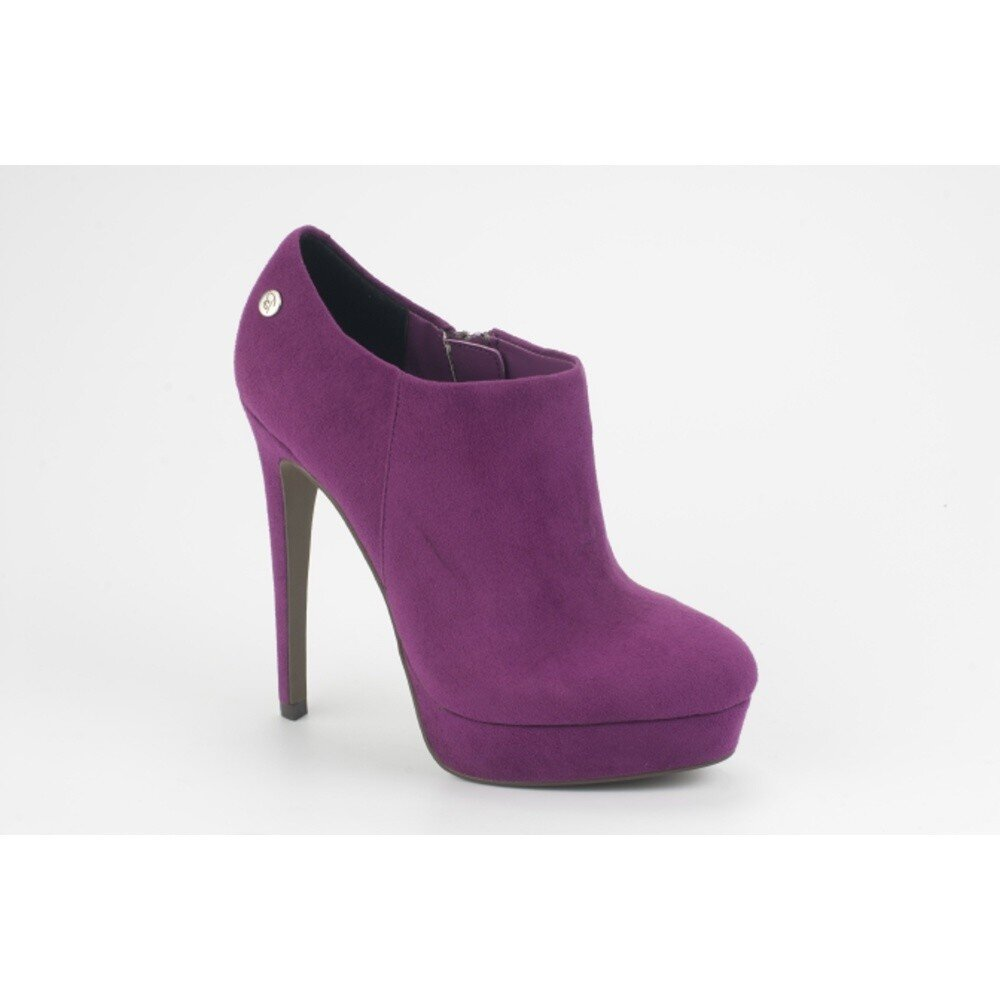 66c4662e92d Dámské fialové semišové kotníkové boty na jehlovém podpatku Blink ...