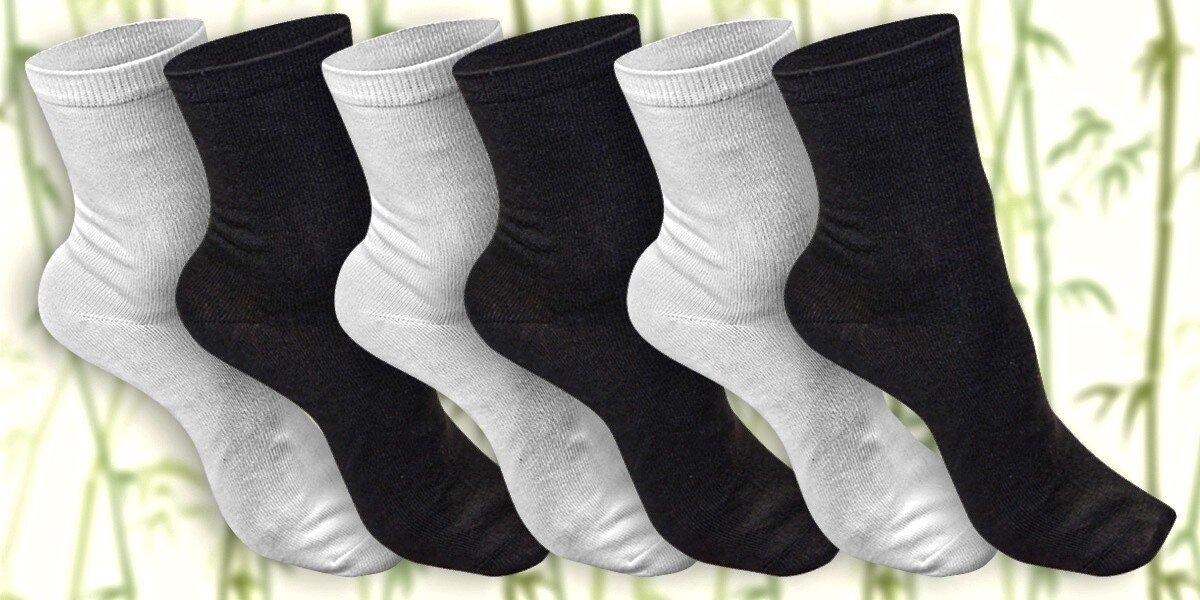 12 párů klasických ponožek s bambusem  073bd8bae8