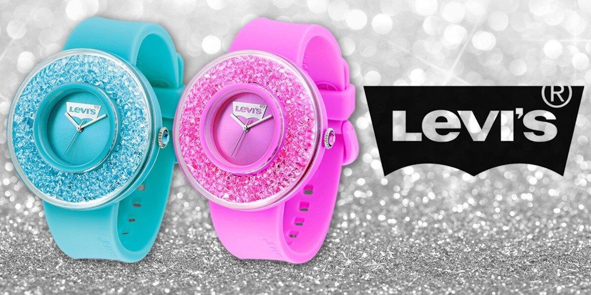 d2b032ad296 Barevné dámské hodinky Levis s krystaly