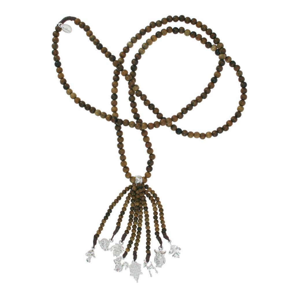 c6fe6ece3 Dámský dřevěný náhrdelník Escapulario se stříbrnými přívěsky | Slevomat.cz