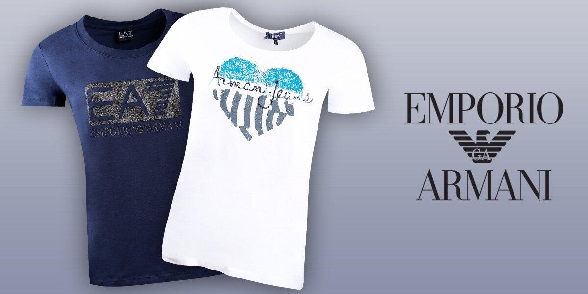 Dámská trička Armani Jeans a Emporio Armani  0c428ced8e