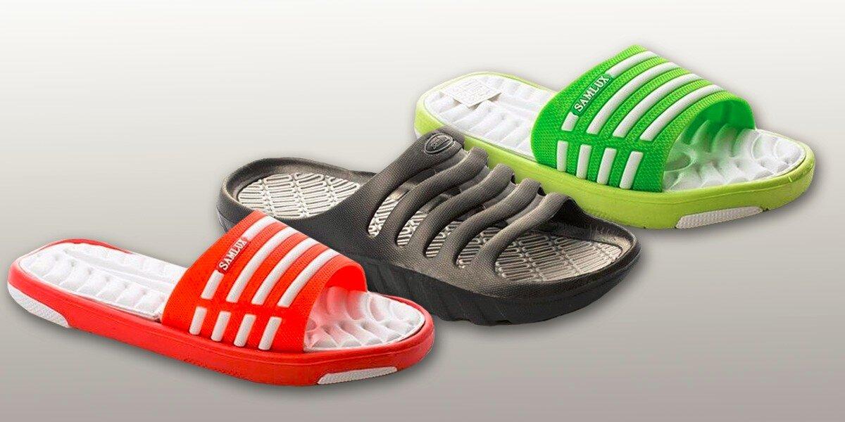 Gumové pantofle na doma i k moři  6d329e7f27