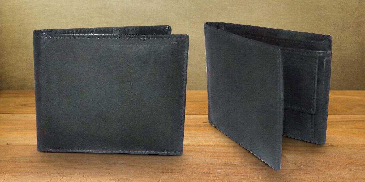8b76fca16e5 Pánská černá peněženka Slim z pravé kůže