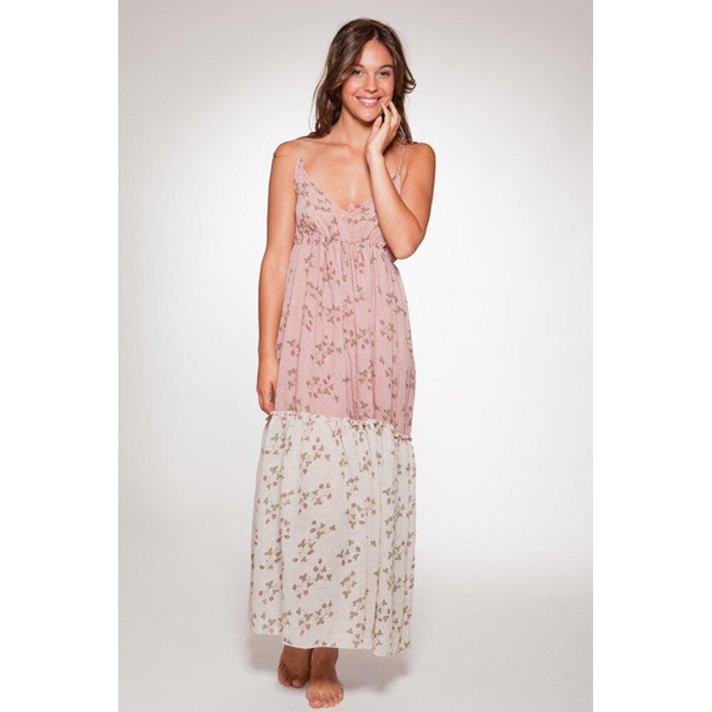 Dámské růžové dlouhé letní šaty s květinovým potiskem Ian Mosh ... 775064684c